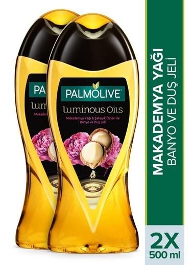 Palmolive Palmolive Luminous Oils Makademya Yağı ve şakayık Özleri 2'li Duş Jeli 500 ml ve Duş Lifi Hediyeli Renksiz